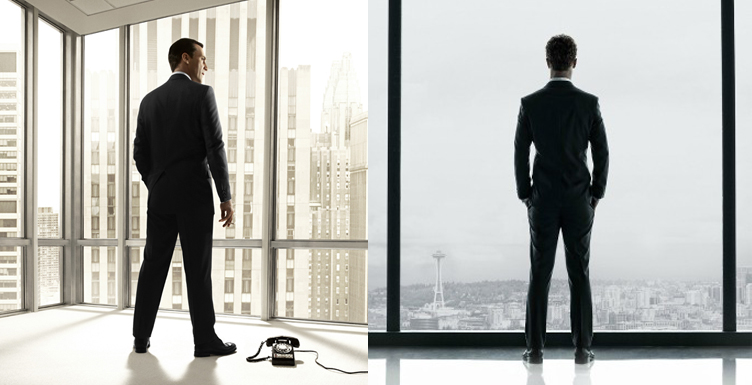 FIFTY SHADES OF GREY Teaser Poster Similar to MAD MEN?
