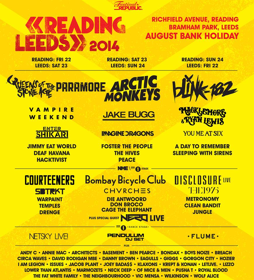 Paramore to Headline Reading and Leeds Festival 2014
