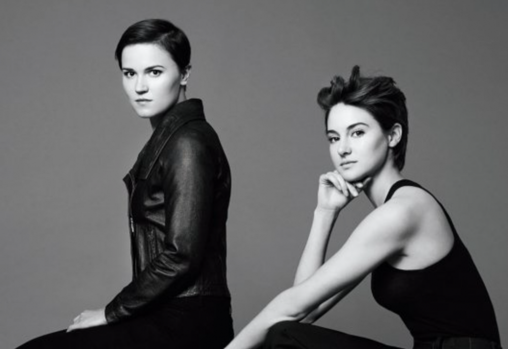 PHOTO: Shailene Woodley and Veronica Roth in 'The Hollywood Reporter'
